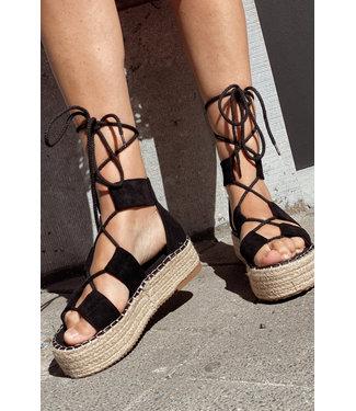 Wrap sandal Black