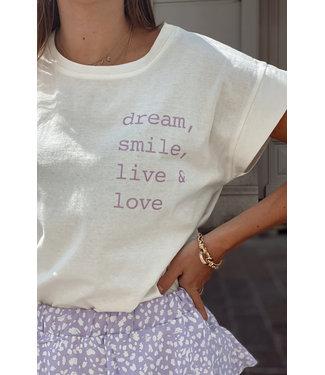 Basic t-shirt quote lila
