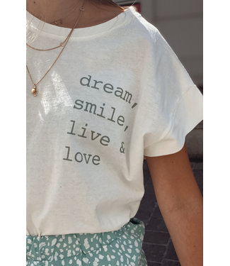 Basic t-shirt quote green