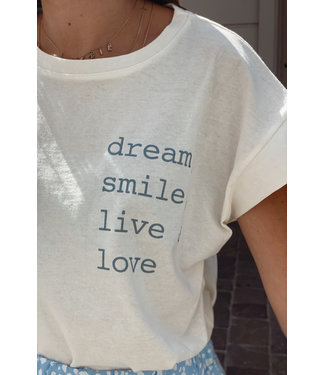 Basic t-shirt quote blue