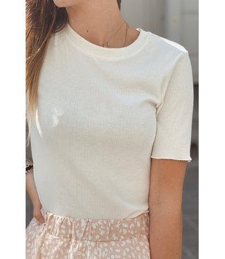 Basic tshirt ribble white