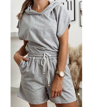 Comfy hoodie set grey