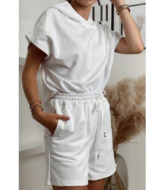 Comfy hoodie set white