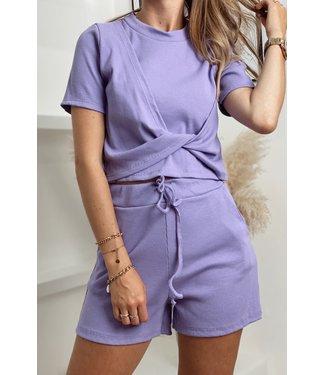 Comfy wear wavy set purple