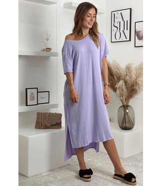 Comfy shirt dress purple