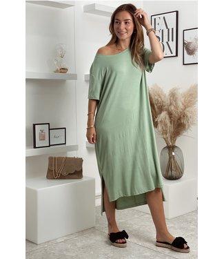 Comfy shirt dress green