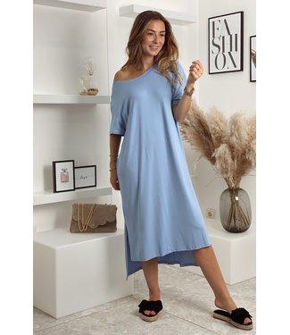 Comfy shirt dress blue