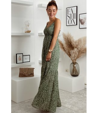 Maxi dress leaves