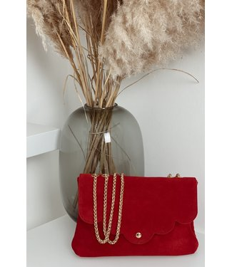 Cherryred suede bag