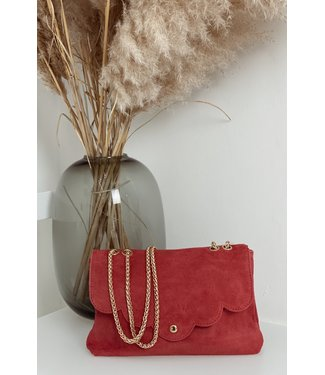 Raspberry red Suede bag