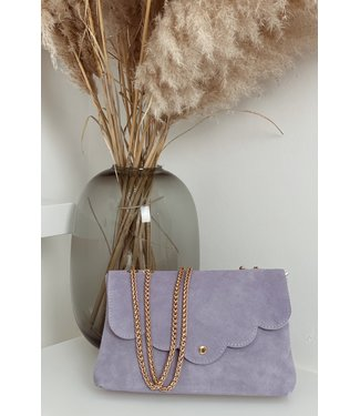 Lila suede bag