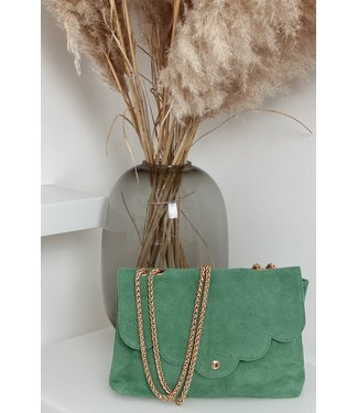 Soft mint suede bag
