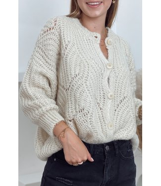 She's Milano x knitted cardigan beige