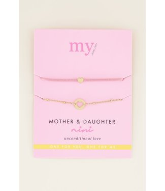 Moeder & dochter armband mini