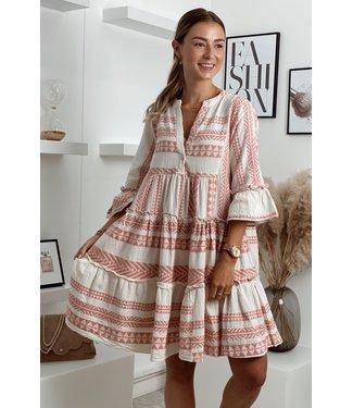 moment Desert boho soft pink dress