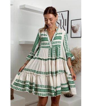 Desert boho green dress
