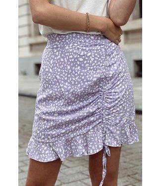 Strop skirt purple