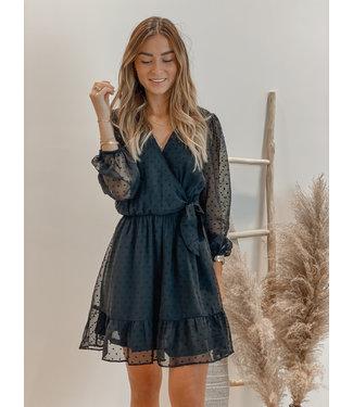 Double dot dress noir