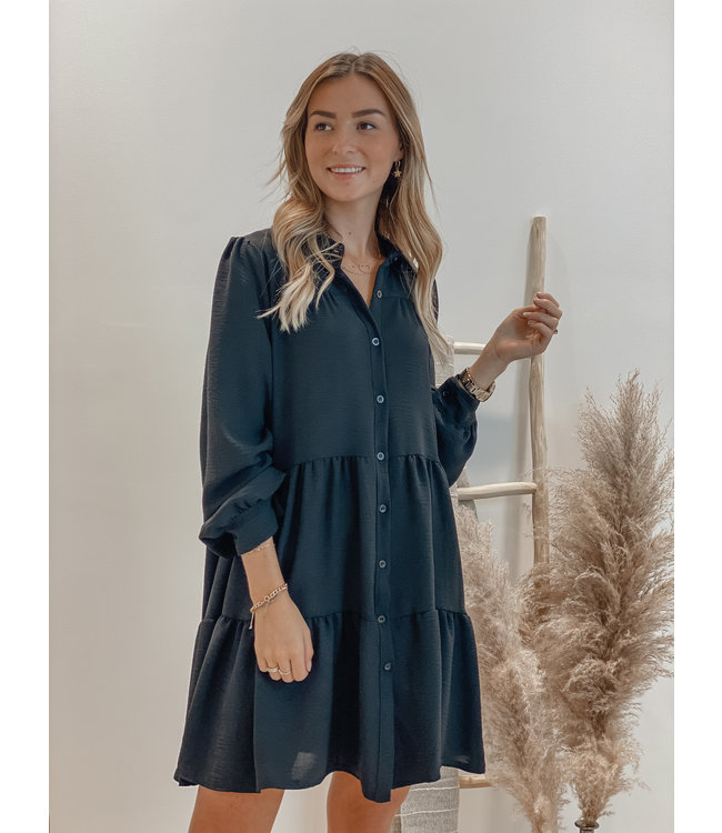 Because of you smock dress - black