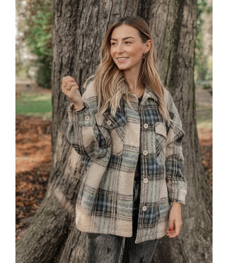 She's Milano x SHORT checked coat chestnut