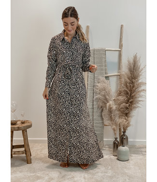 With a print -  maxi dress
