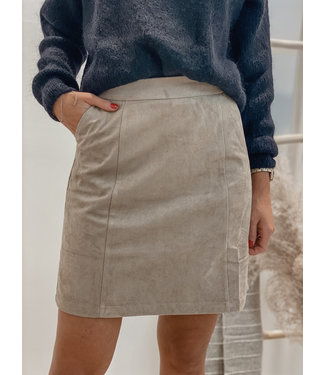 A-line Faux suede skirt