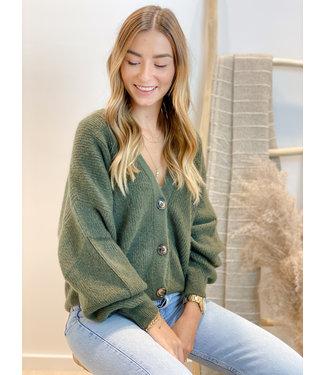 She's Milano x gilet uniform green