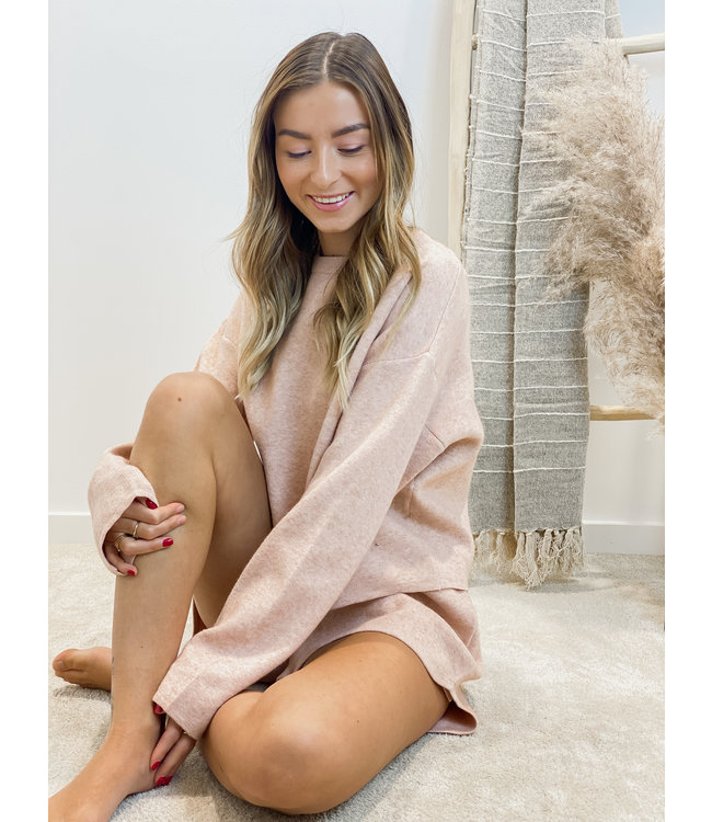 Stay cosy long soft pink