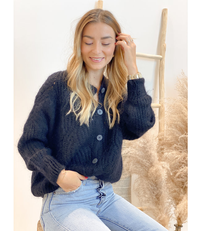 She's Milano x knitted cardigan Black