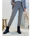 Pied de poule mid brown pants