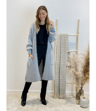 She's milano x long gilet Grey