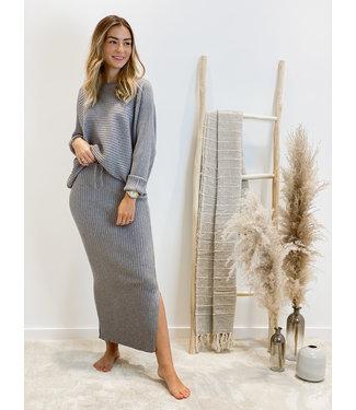 Ensemble long skirt & sweater - grey