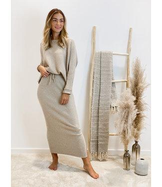 Ensemble long skirt & sweater - beige