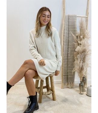 Knitted tunique debardeur - ecru