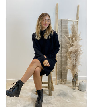 Knitted tunique debardeur - black
