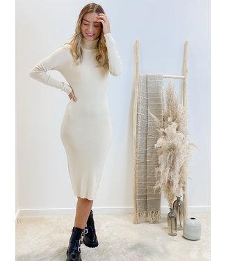 Tricot dress - nude