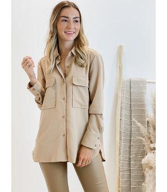 Basic blouse - camel