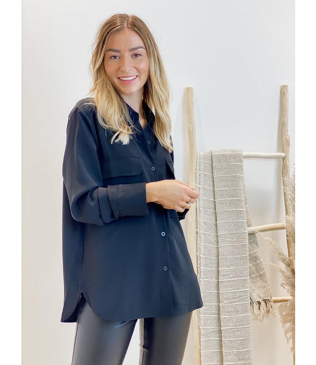 Basic blouse - black