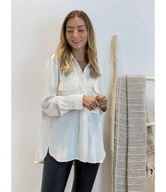 Basic blouse - ecru