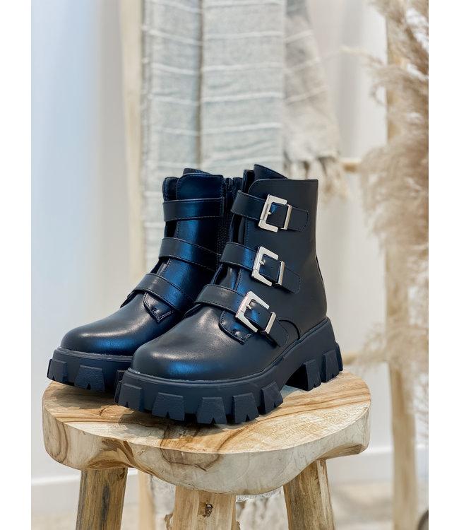 Biker strap boots