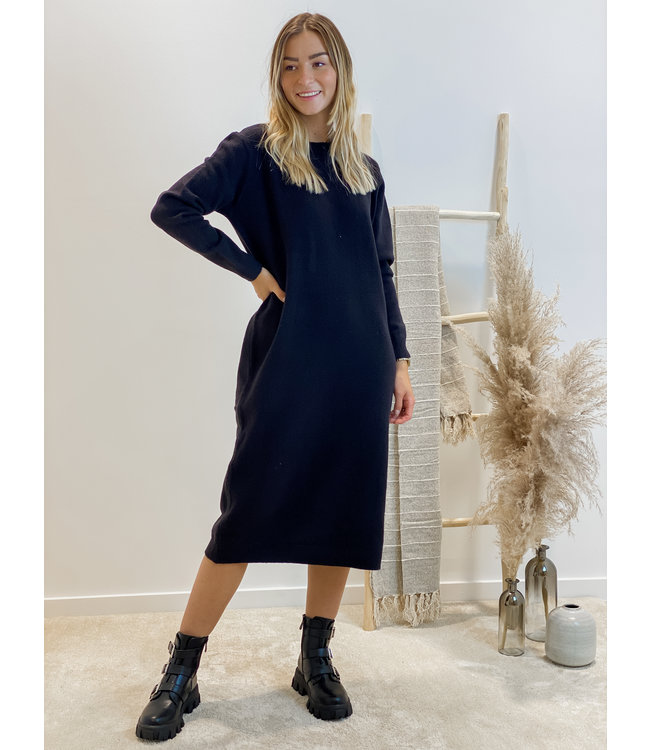 Yasmine soft dress - black