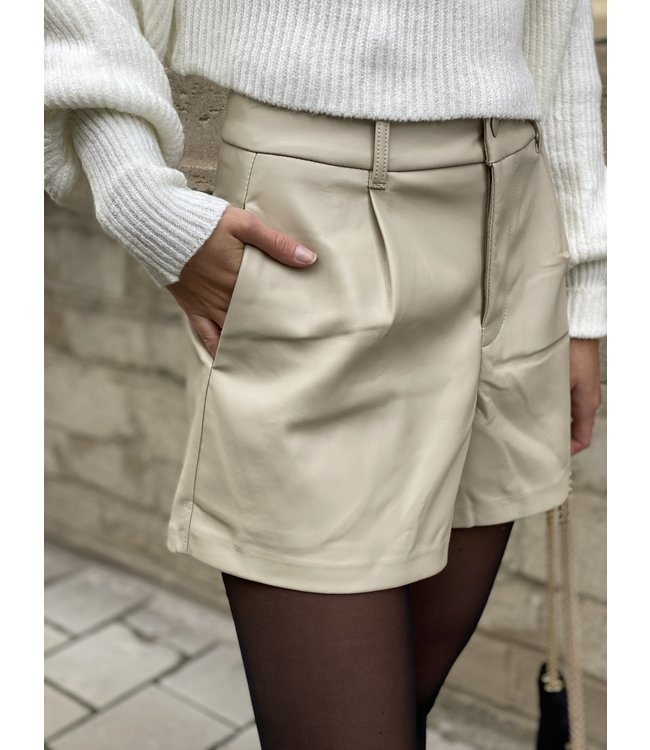 Leather short nude