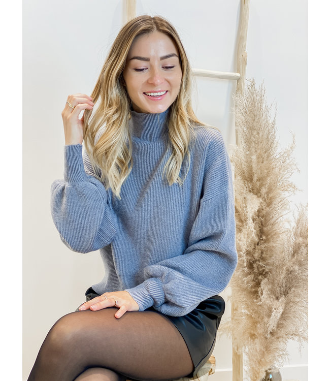 Ribble sweater turtle neck - grey