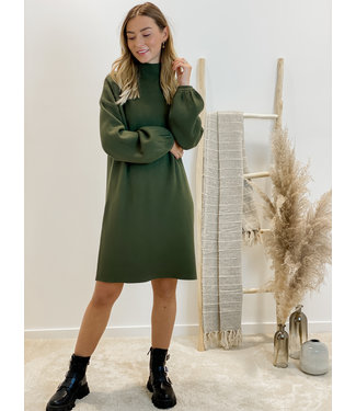 Sweet fall dress - kaki