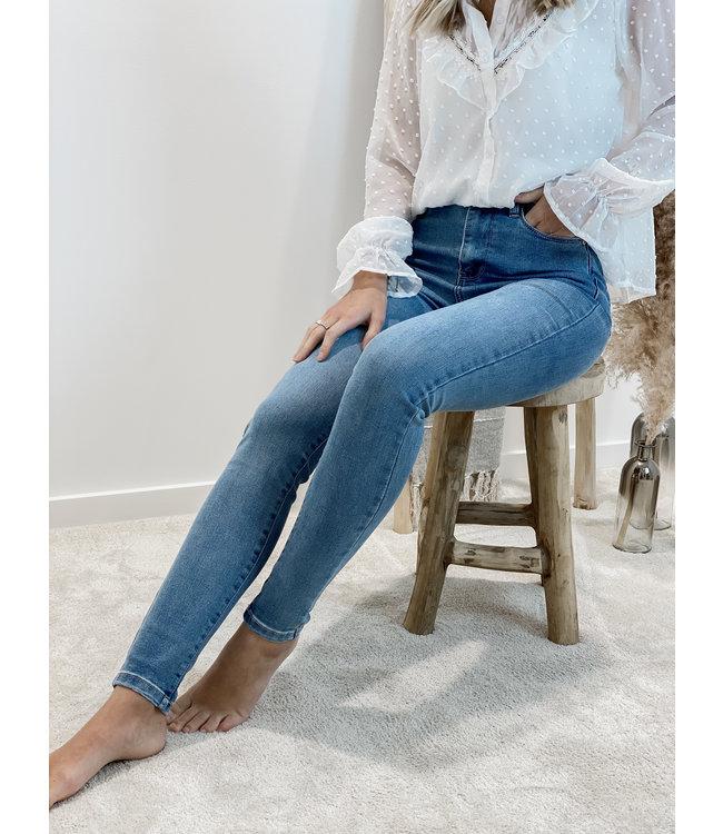 High waist skinny  jeans - wash blue