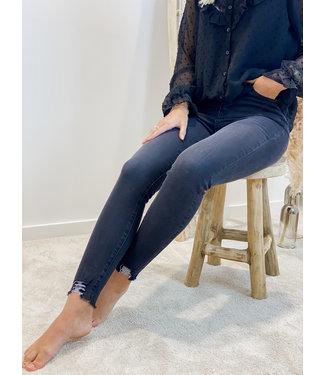 High waist skinny  jeans - dark grey
