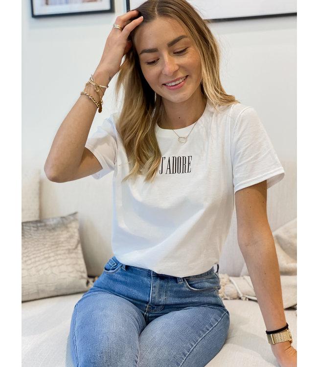 J'adore t-shirt white