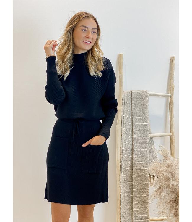 Ensemble short skirt & sweater - black