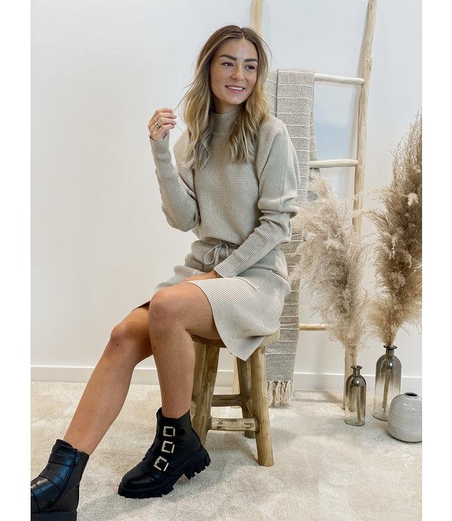 Ensemble short skirt & sweater - beige