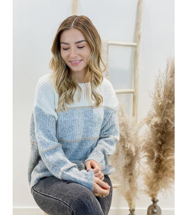 stripe sweater grey